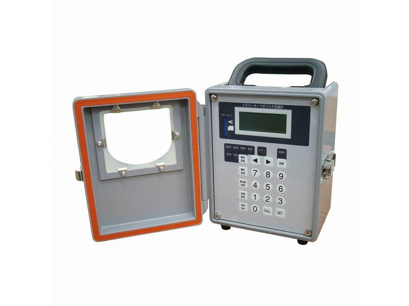 300gの超軽量で持ち運びに便利な電圧・電流記録計