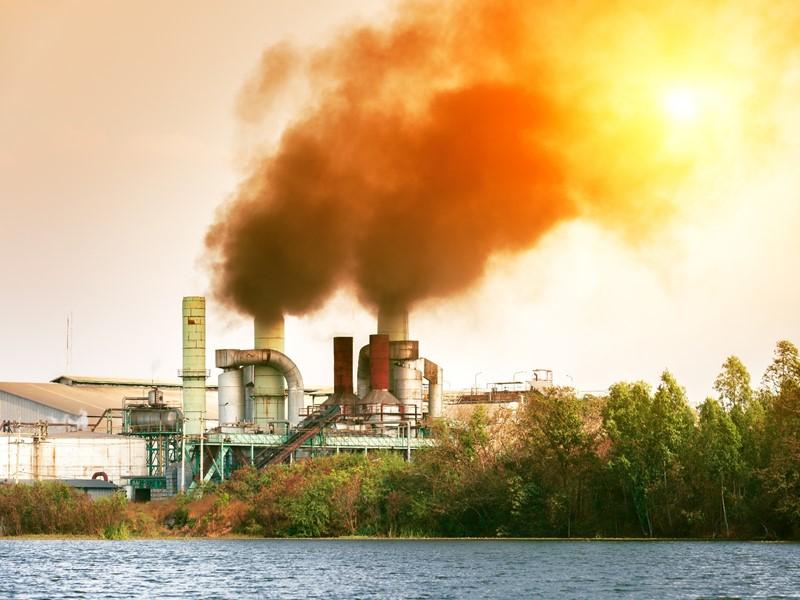 工場排ガス処理装置の環境監視!温度状態を遠隔監視!